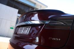 Tesla Model S 85+ in Signature Red.