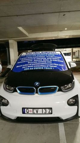 Garry had his BMW i3 on display.