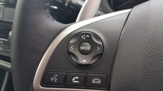 Some nifty controls on the steering wheel to manage the audio and hands-free mobile calls.